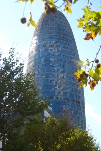 the torre agbar in barcelona