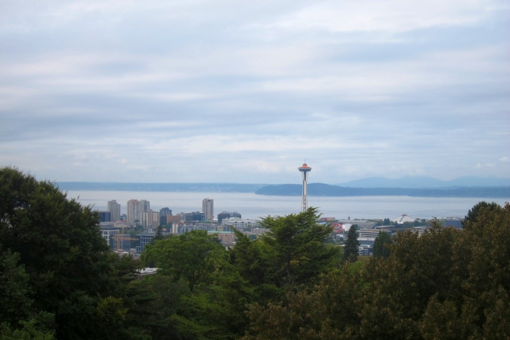 view of seattle from volunteer park in capitol hill