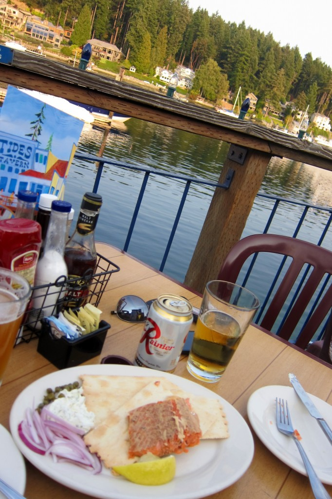refreshing happy hour at tide's tavern in gig harbor