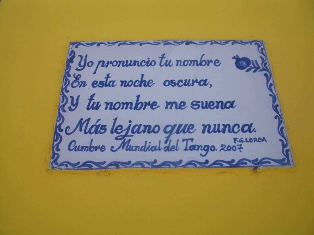 quote from f.g. lorca as seen on the streets of valpo