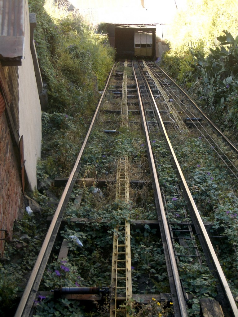 looking up the funicular path