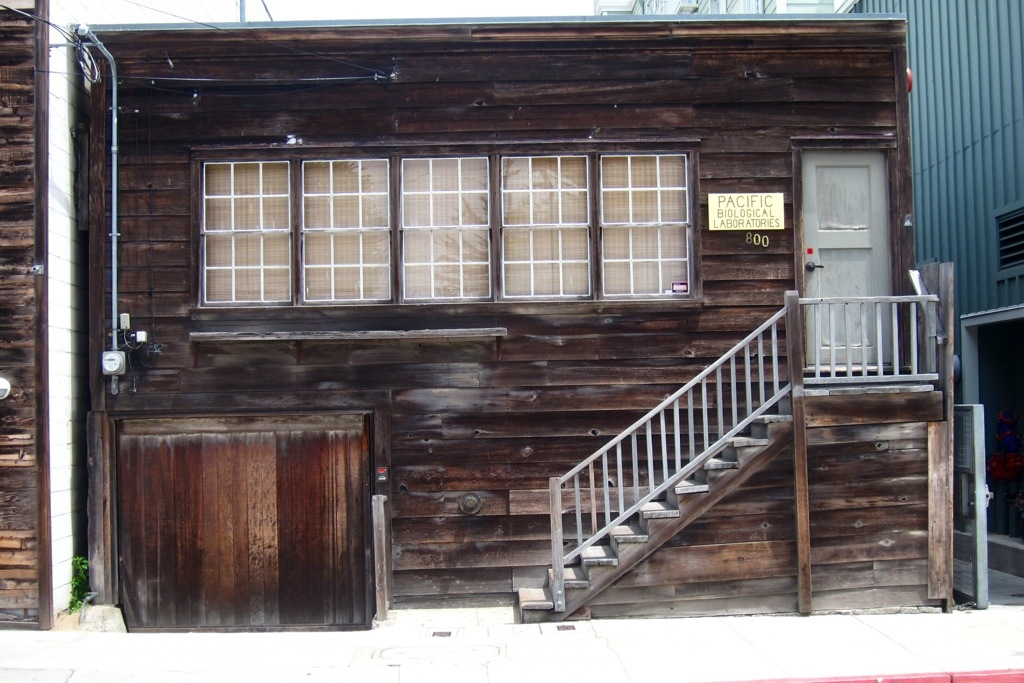 the pacific biological laboratories, fictionalized into western biological labs in steinbeck's cannery row (monterey, ca)