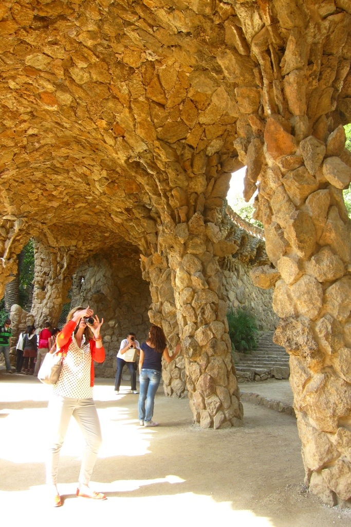 visiting park guell in barcelona, as seen in vicky cristina barcelona