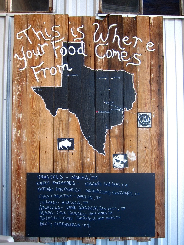 locally-sourced foods at the cove in five points, san antonio