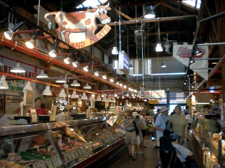 inside the granville island public market in vancouver