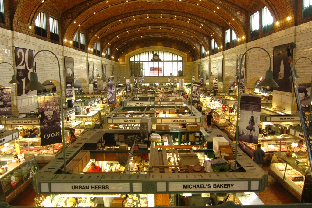 the gorgeous west side market in cleveland