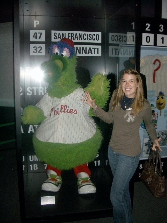 phanatic and me in cooperstown, ny at the baseball hall of fame
