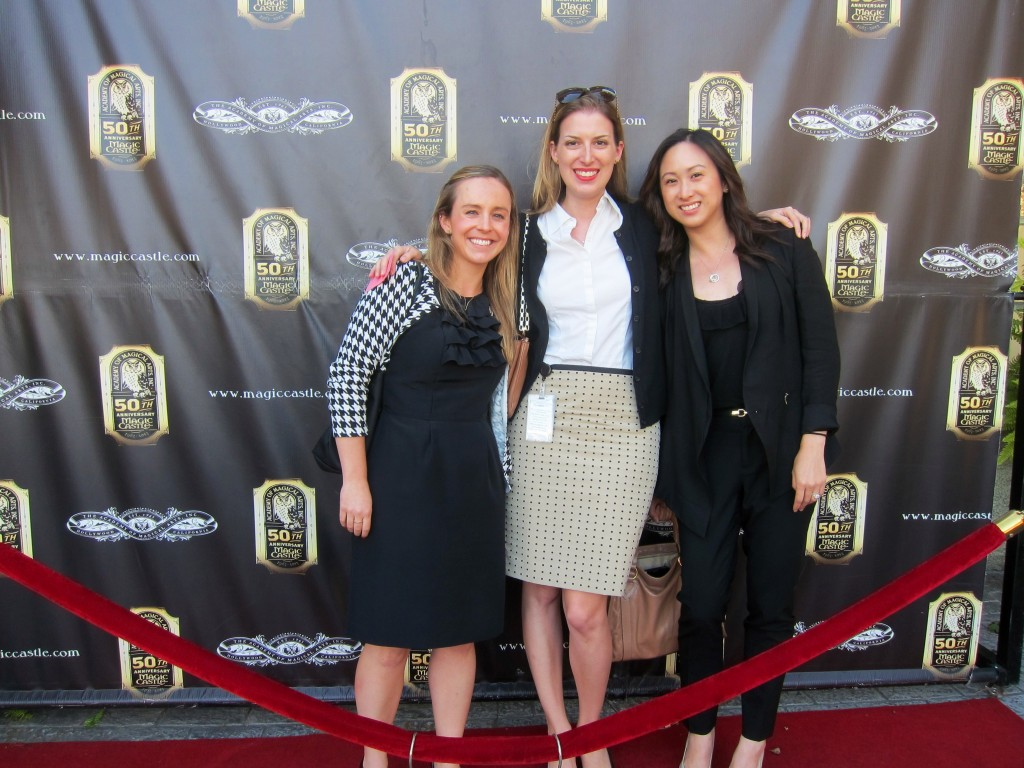 red carpet at the magic castle (like my work badge?)