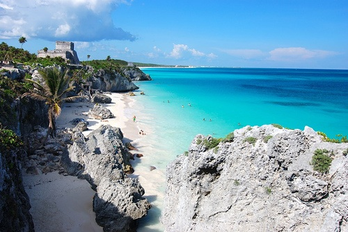 mayan ruins in tulum taken by nick lucey
