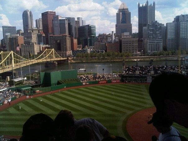 the view of downtown pittsburgh from pnc park - stunning!