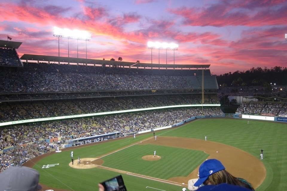 a beautiful night for baseball at chavez ravine in los angeles