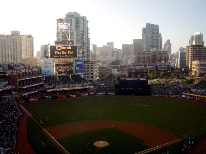the view of downtown san diego from petco park