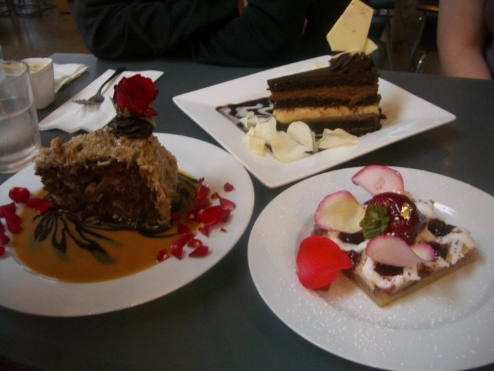 some of the desserts offered at extraordinary desserts in san diego's little italy