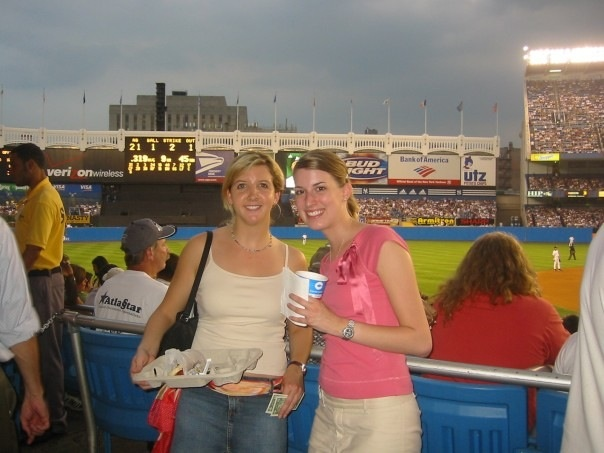 my first ever major league game at yankee stadium with kim!