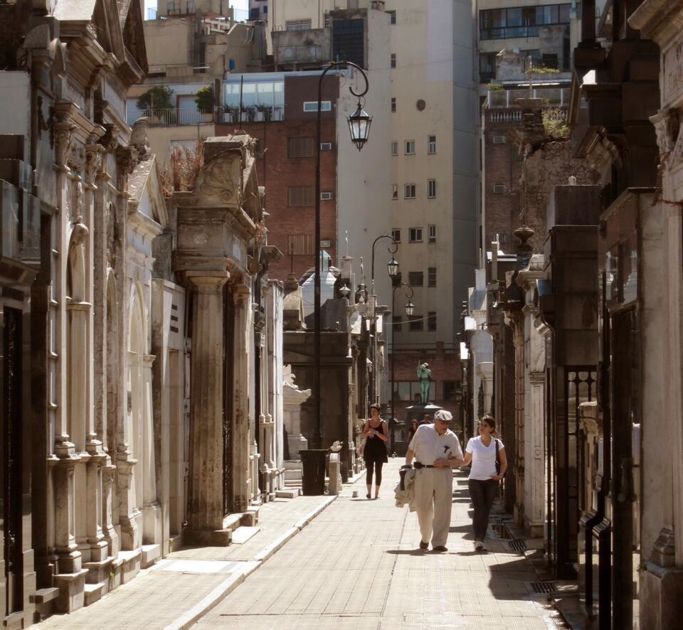 strolling through the recoleta