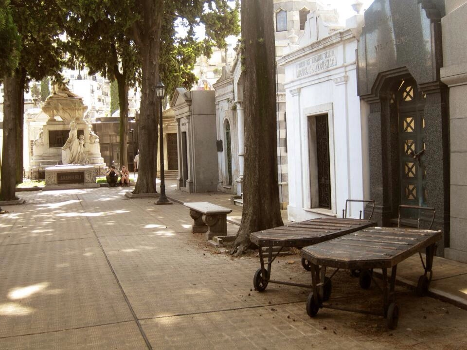 the main path at recoleta cemetery in buenos aires