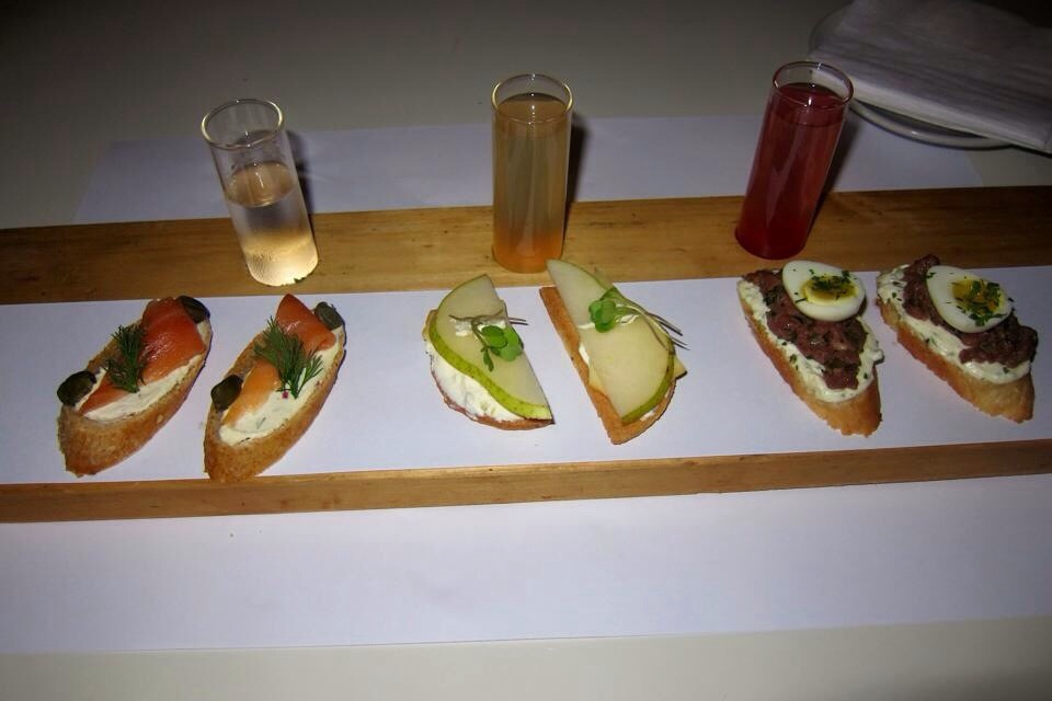 vodka and bites from olsen in palermo