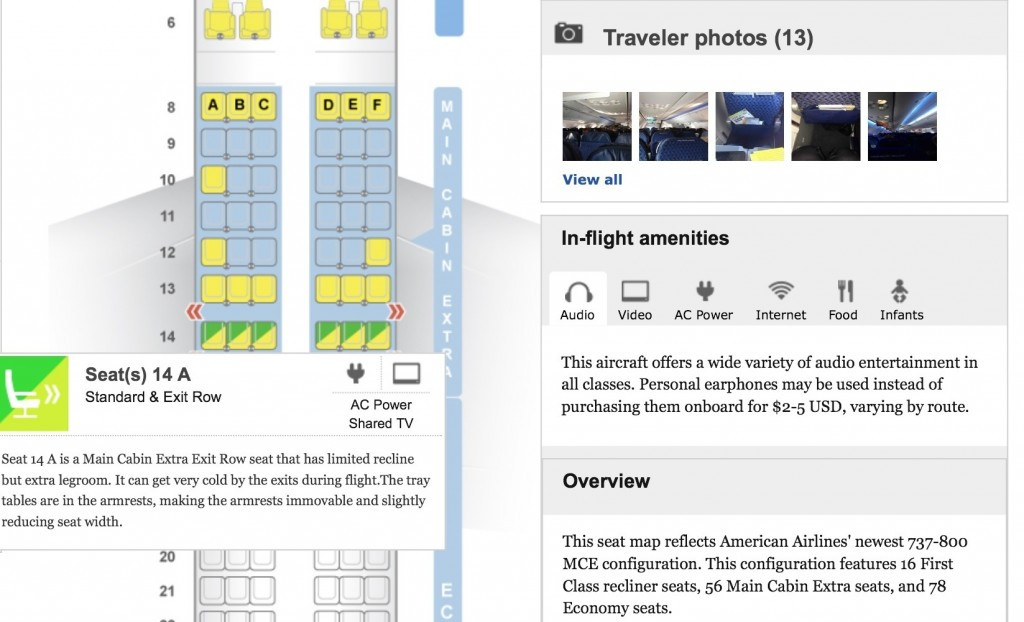 check out seat guru's website or app for the best seat on your flight.