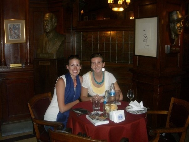 stopping for some agua at the cafe tortoni in buenos aires, argentina