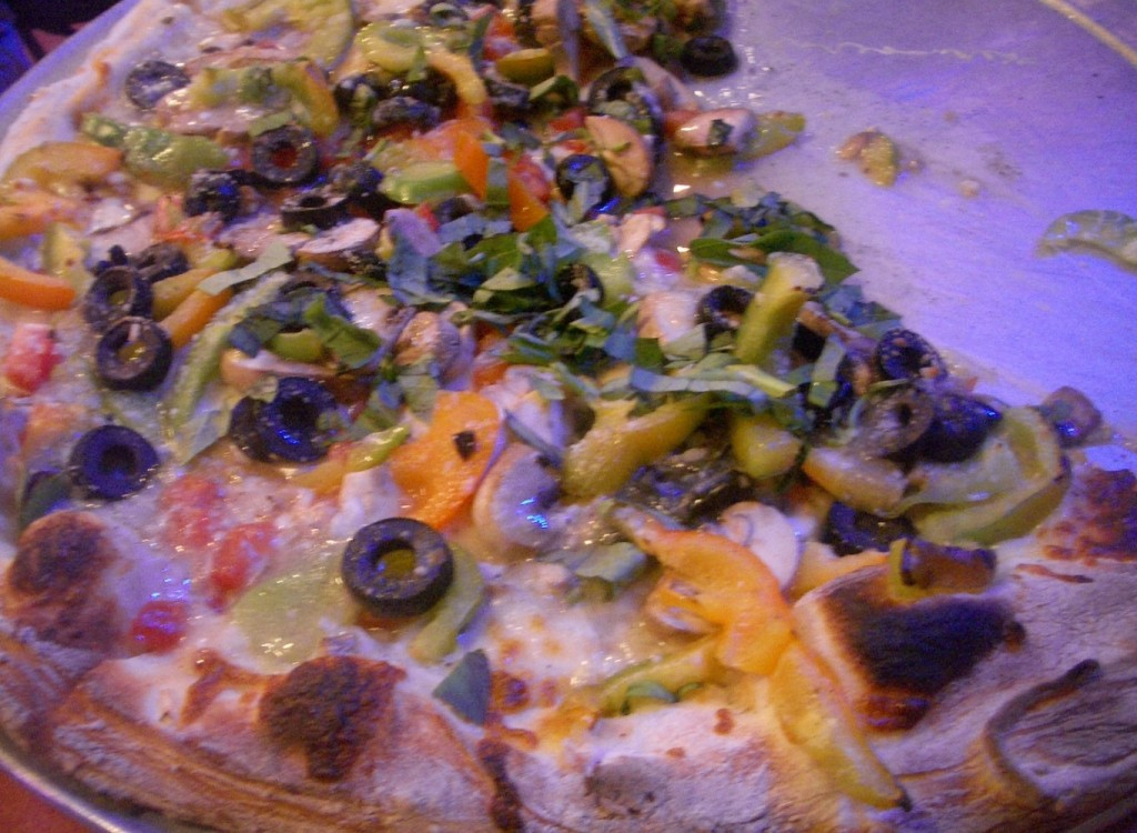 just a good veggie pizza at pizzeria regina in boston