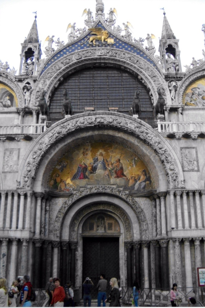 the exterior of st. mark's basilica - i wish my camera at the time had been better to capture the details
