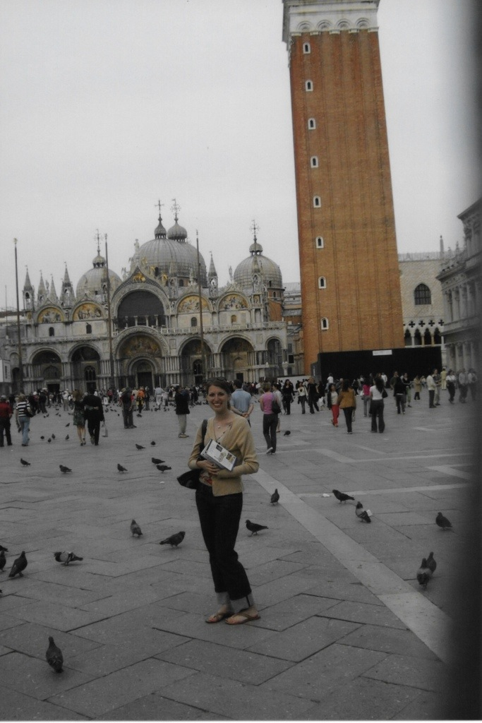 ready for my close-up with st. mark's basilica and the campanile behind me