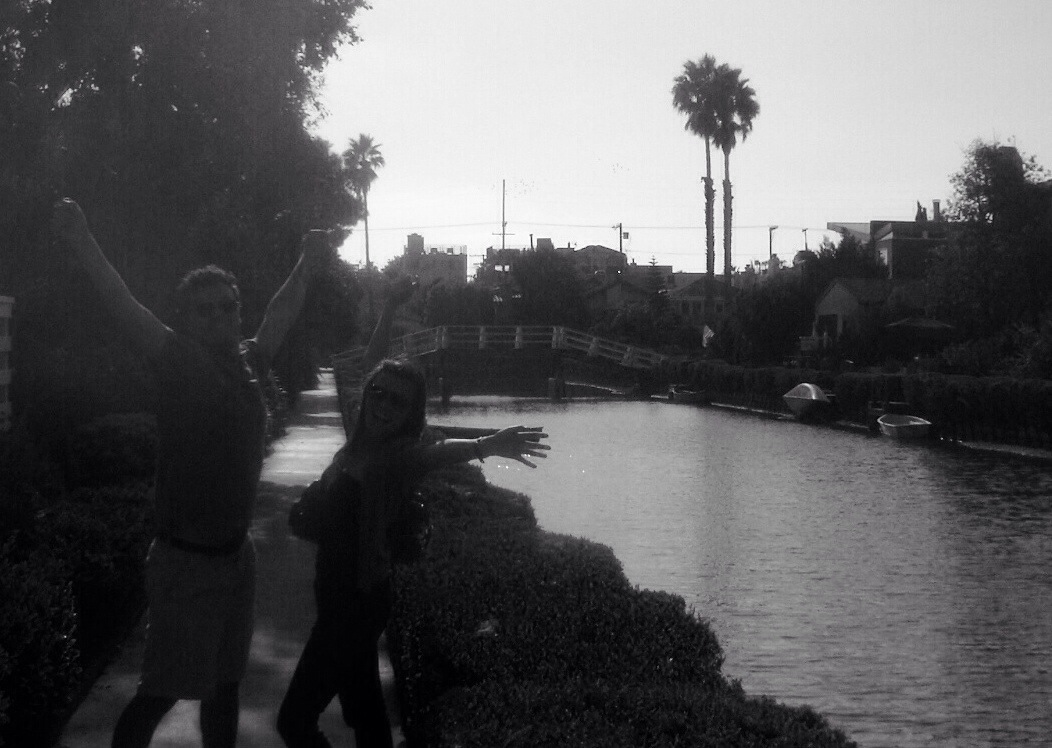 just some family fun along the venice canals in los angeles