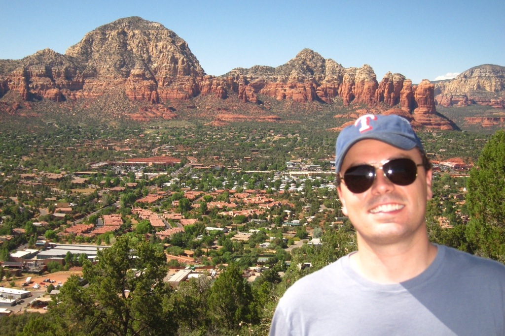 overlooking sedona with the mister