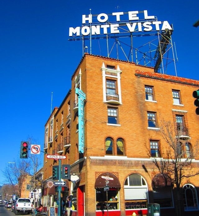 the allegedly haunted hotel monte vista in flagstaff, arizona