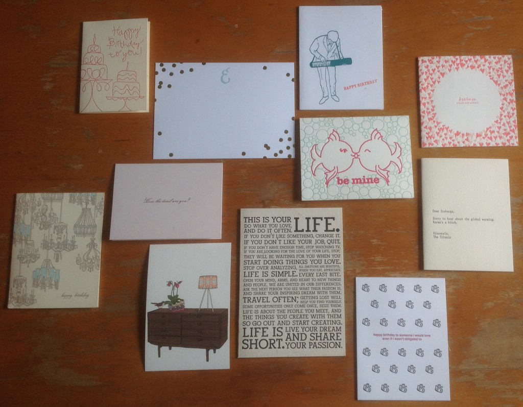 a collection of some of my favorite letterpress stationery and notes over the years