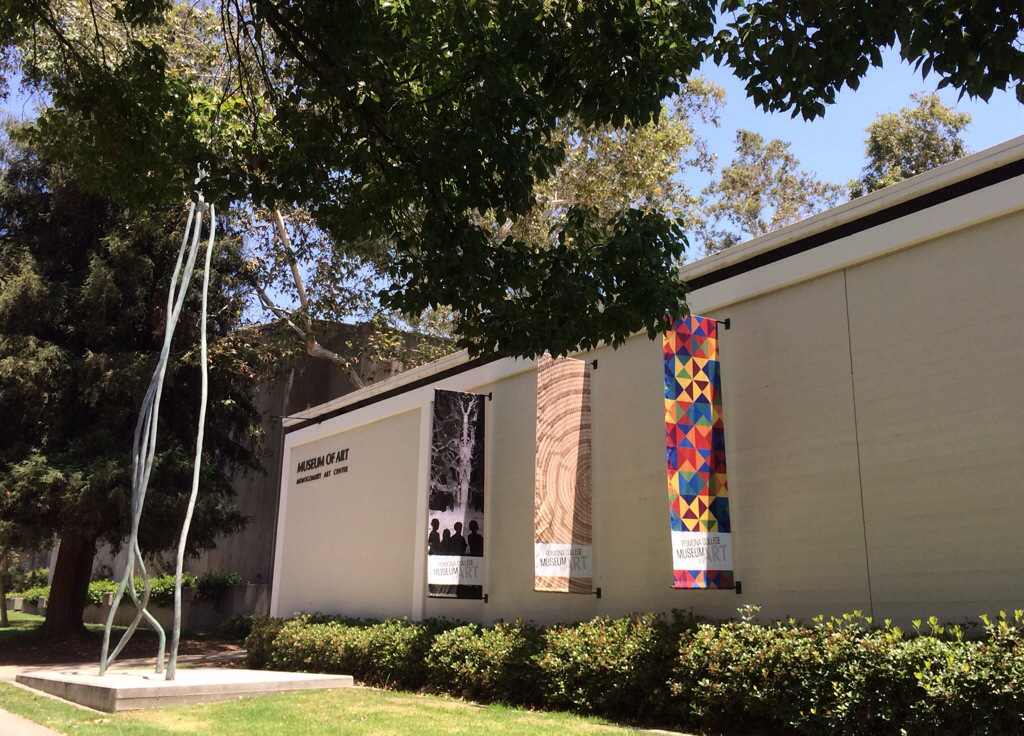 the pomona college museum of art, just across the street from the claremont village