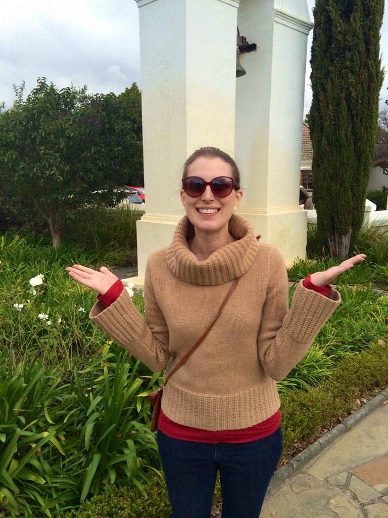 exploring the winelands of stellenbosch (outside of cape town) on a cool day.