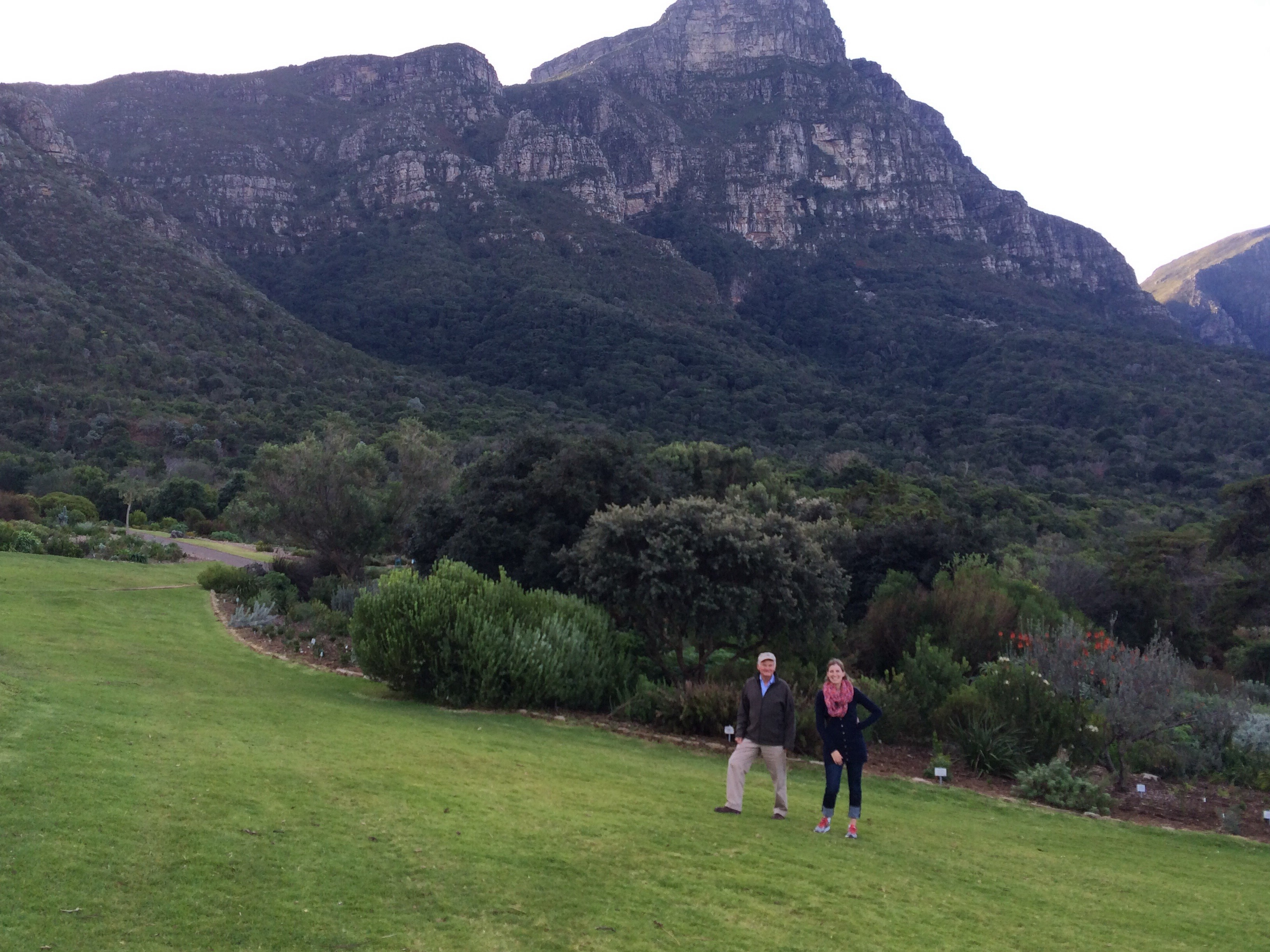 climbing the kirstenbosch gardens in cape town with our guide, graham. he was so amazing!