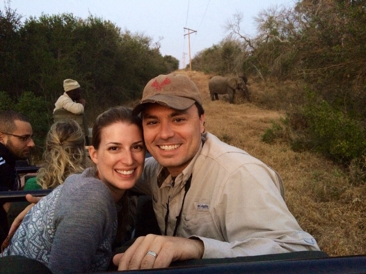 just taking a selfie with some elephants.