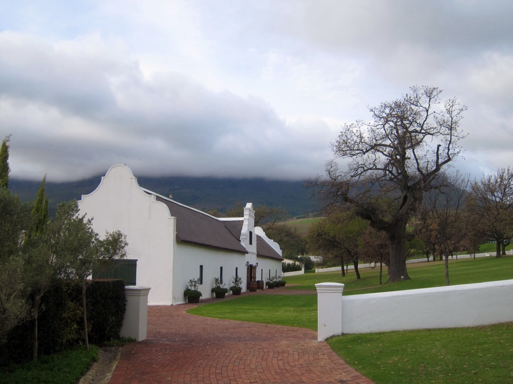 the webersburg wine estate is a perfect example of cape dutch architecture.