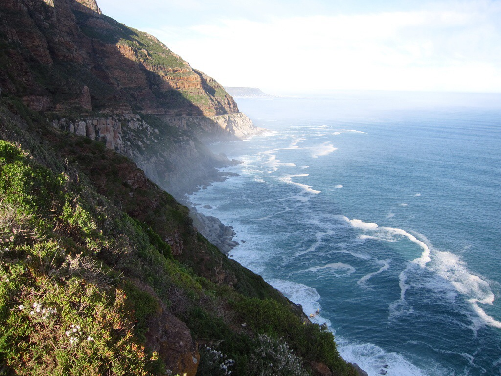 stunning vistas while driving along the western edge of the cape peninsula