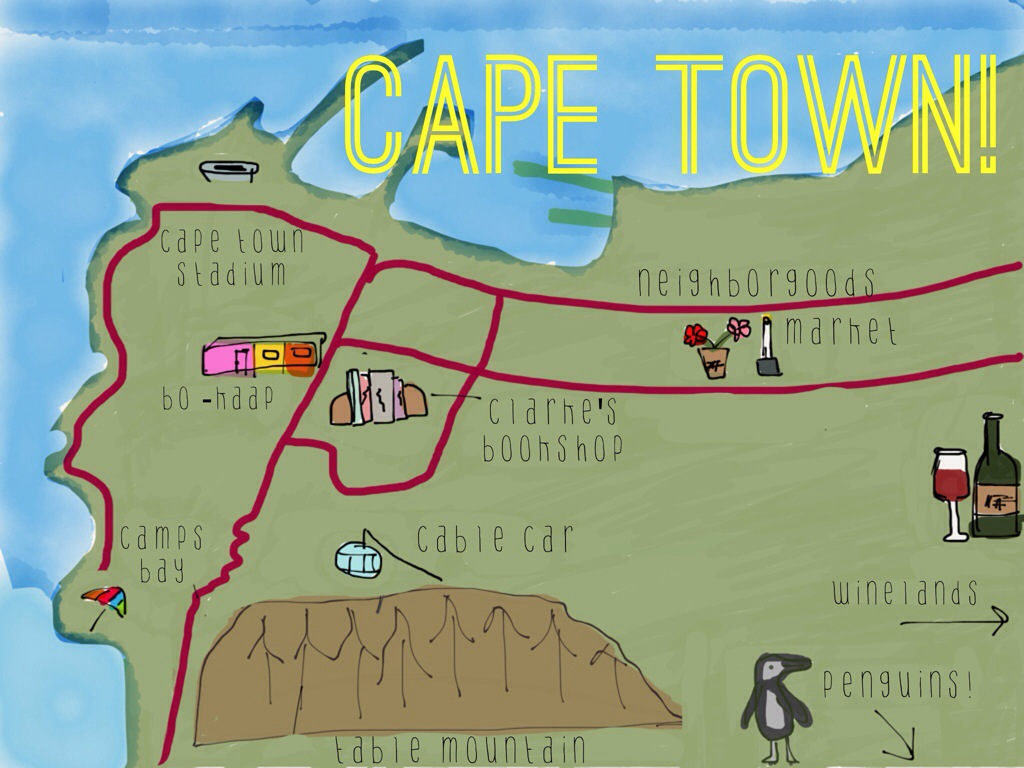 my map of cape town!