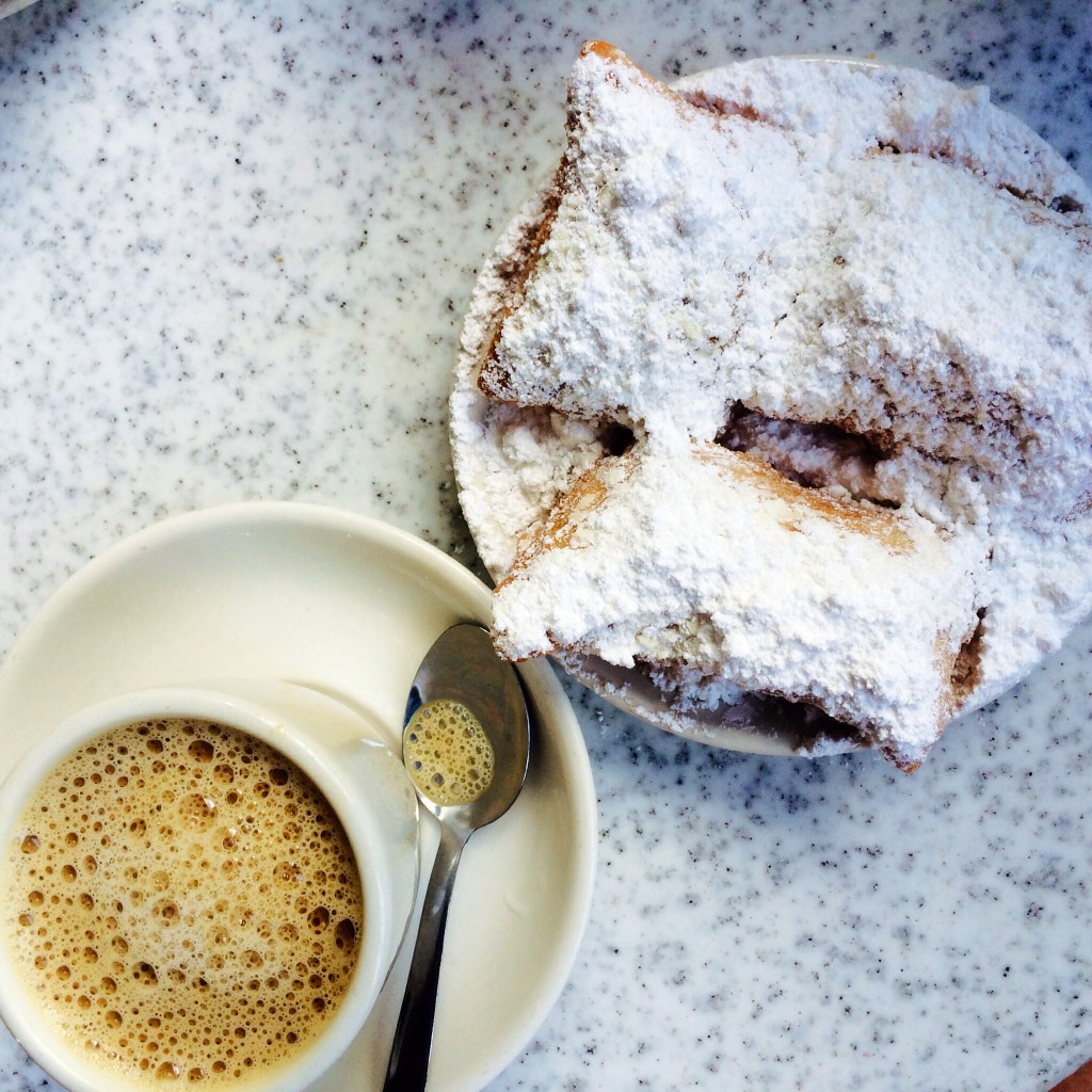 ok, cafe du monde is worth it. skip the line and go sit down: first come, first serve.