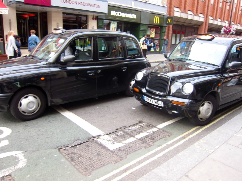 our london taxi that drove us to paddington station while listening to the usa/germany world cup match. USA!