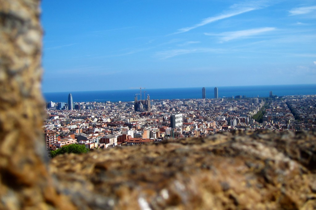 barcelona, as seen from park guell