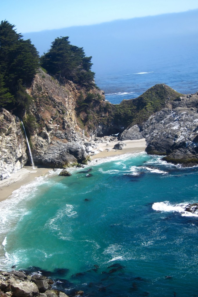 the stunning mcway falls in big sur, california