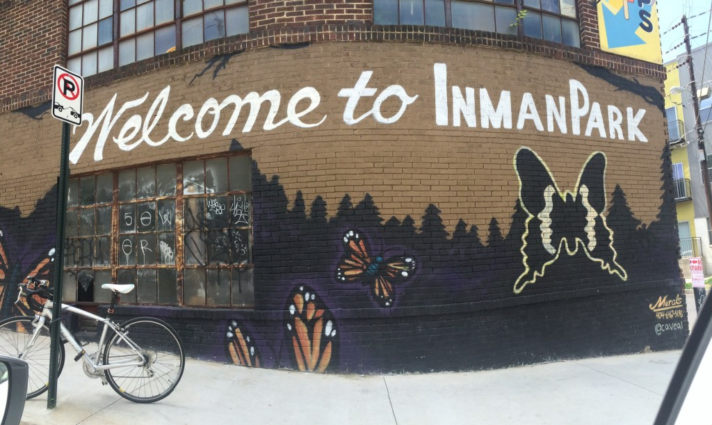 a quick jaunt to the inman park neighborhood of atlanta - very walkable and full of unique shops and restaurants