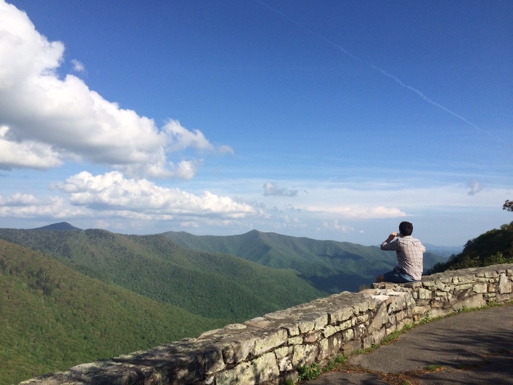 a quick break along the blue ridge parkway to take in the breathtaking views