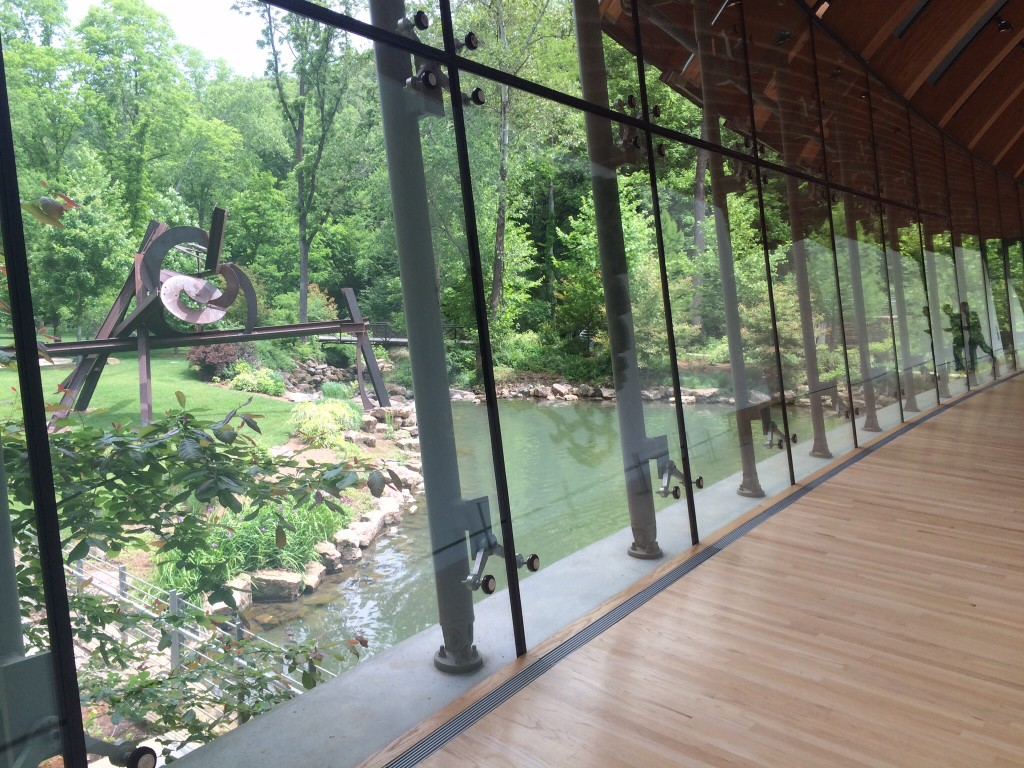 inside the stunning crystal bridges museum in bentonville, arkansas