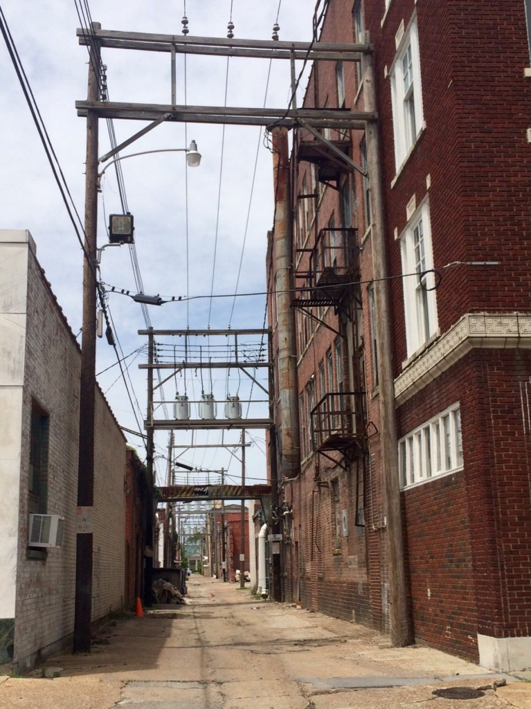 the back alleys of clarksdale, mississippi